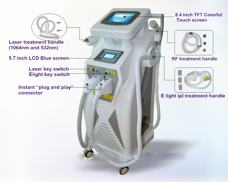 OPT+IPL+ELIGHT+RF+ND YAG LASER